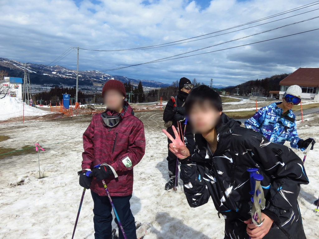 スキー旅行1日目・滑走の様子2
