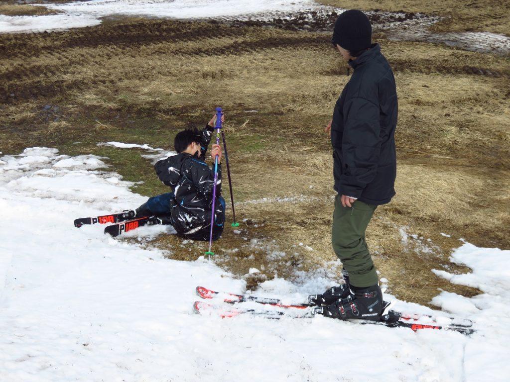 スキー旅行1日目・滑走の様子1
