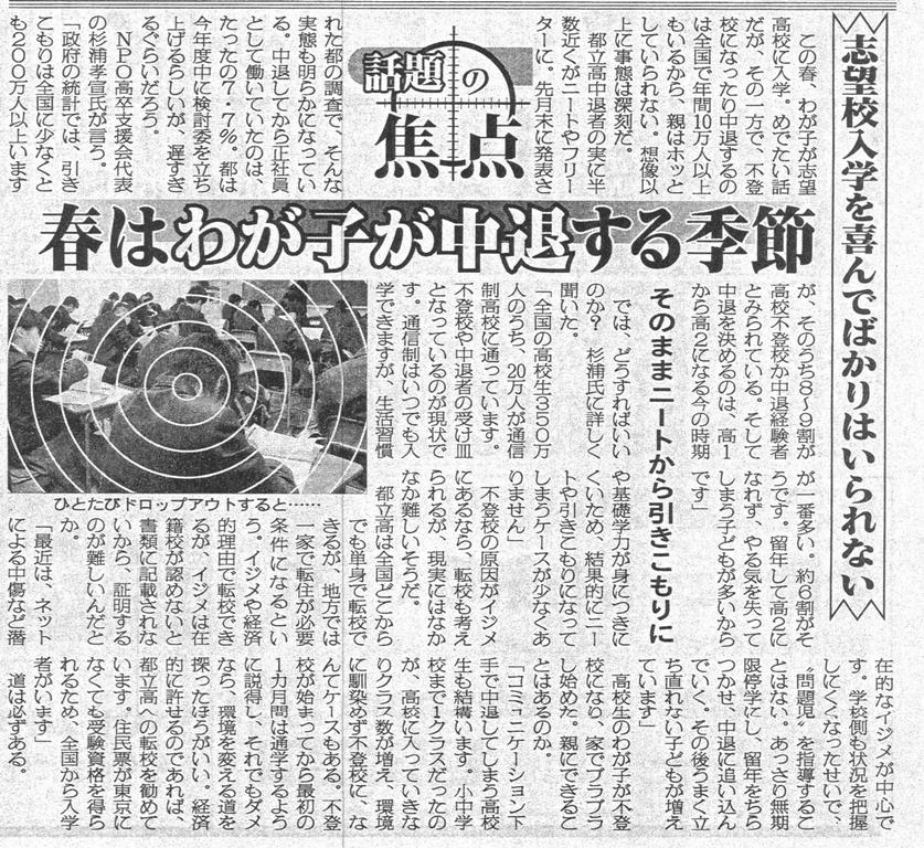 2013年4/8 日刊ゲンダイ