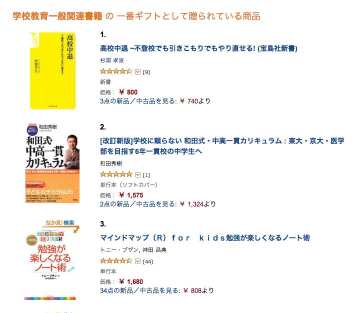 学校教育一般関連書籍 の 一番ギフトとして贈られている商品